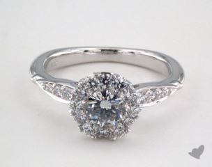 Royal Halo Pave Crown Engagement Ring