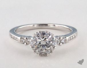 Royal Halo Channel Set Engagement Ring