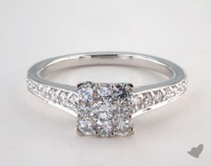 Royal Halo Inspired Princess Shape Engagement Ring