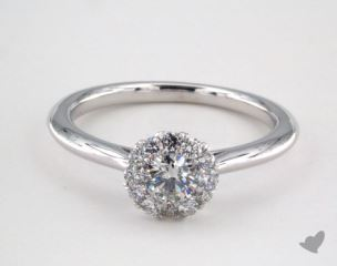 Royal Halo Petite Classic Engagement Ring
