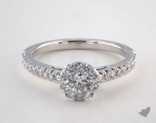 Royal Halo Swallow Tail Pave Engagement Ring