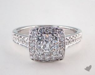 Royal Halo Cushion Shape Classic Engagement Ring