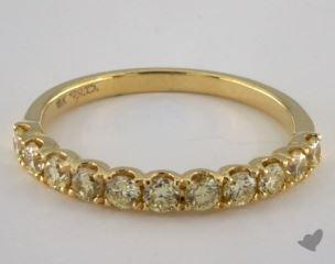 18K Yellow Gold Prong Set Yellow Diamond Ring