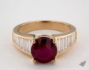 18K Yellow Gold - 2.76ct  - Red